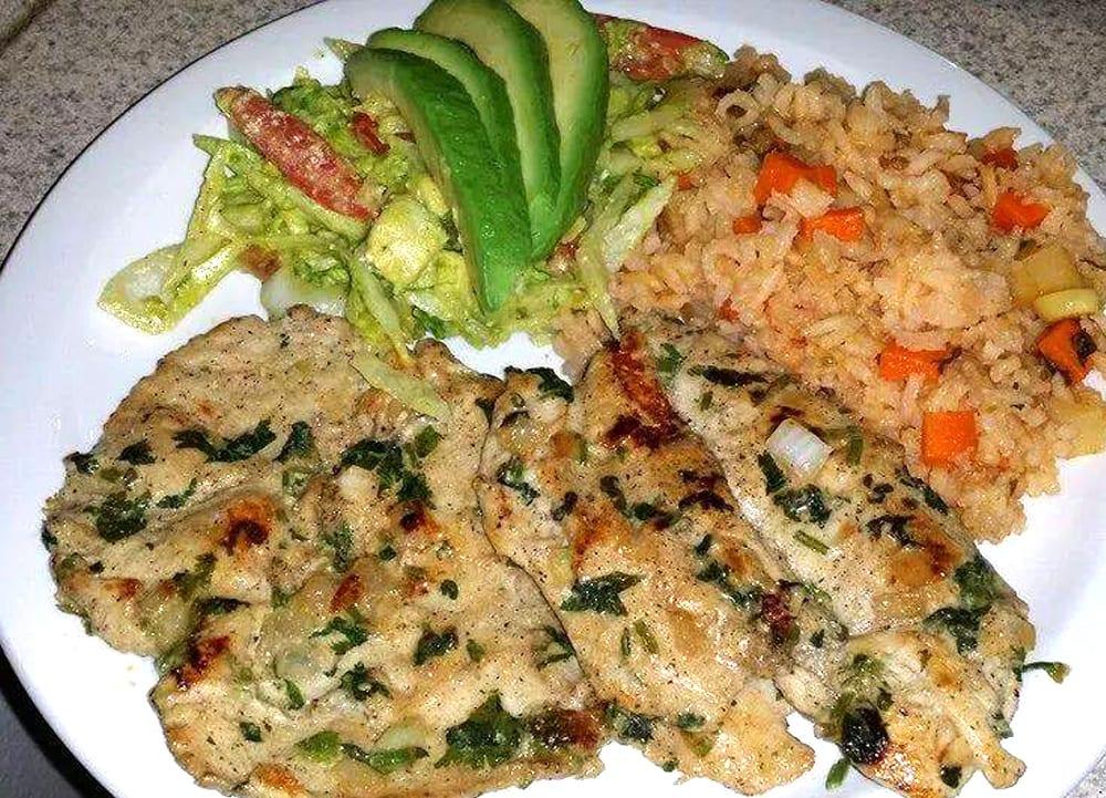 Receta de pollo al cilantro