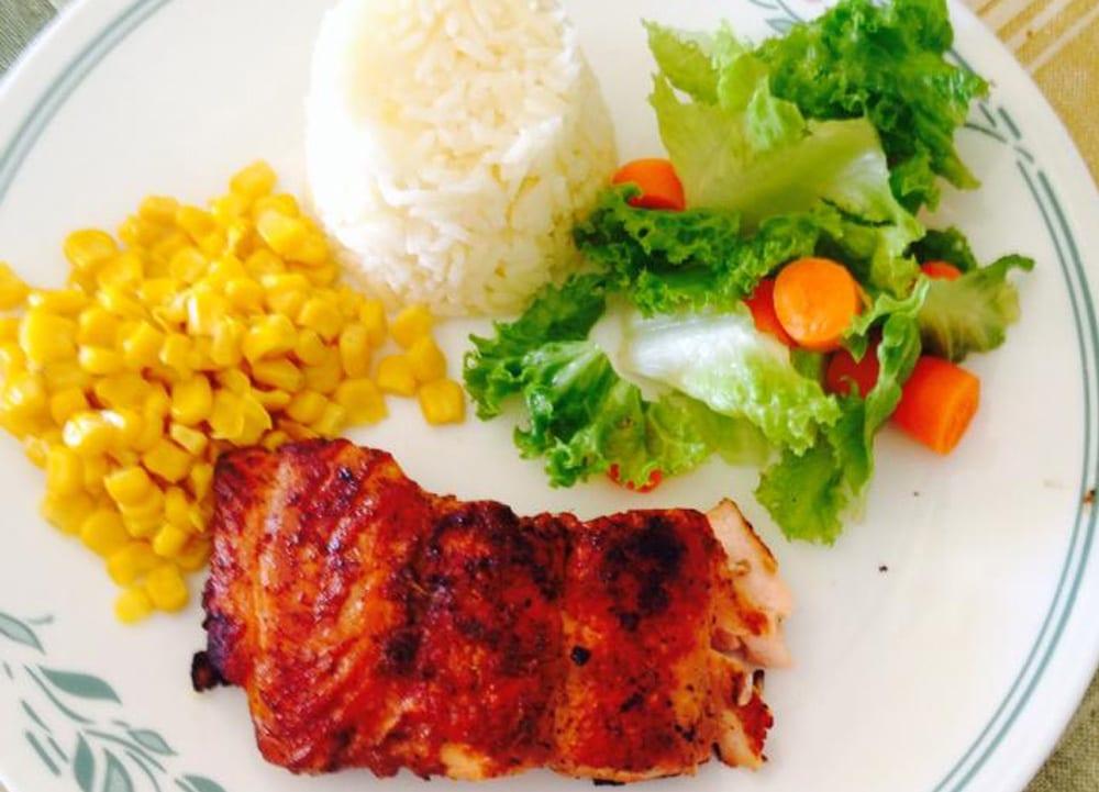 salmon con jengibre y miel