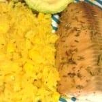 salmon con romero y limon
