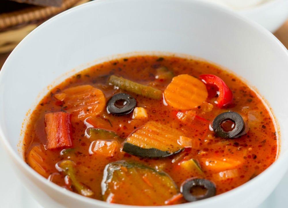 Receta de sopa de zanahoria y calabacitas