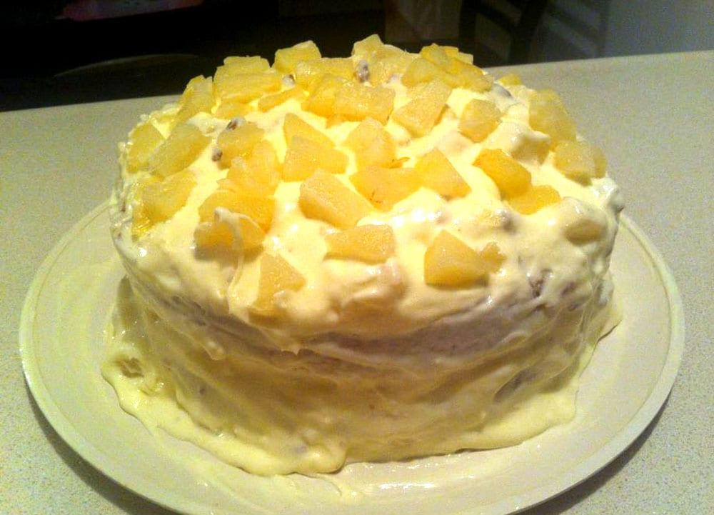 pastel de pina colada