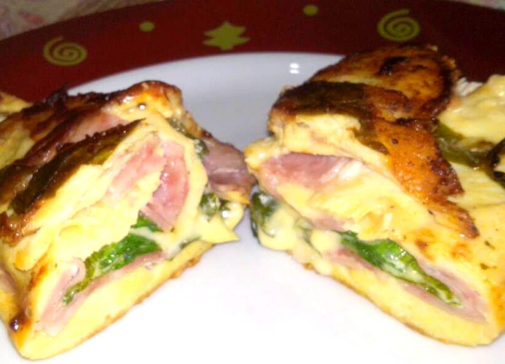 Receta de pechugas rellenas de jamón, espinacas y queso
