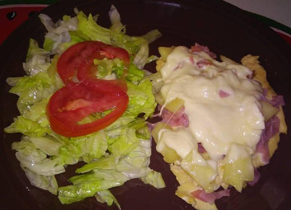Receta de Pechugas con piña y jamón