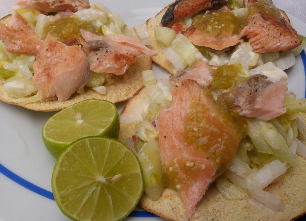 Tostadas de salmón