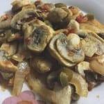 receta de champiñones rancheros