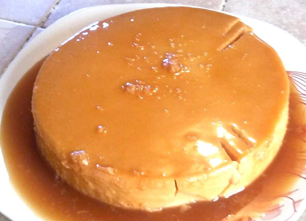 flan de cajeta con queso crema