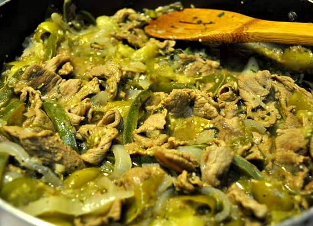 carne al albanil