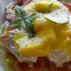 receta de pescado con frutas
