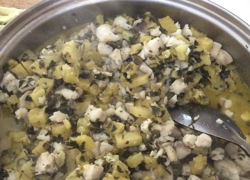 receta de pescado con piña