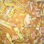 bistec con chile y nopales