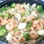 camarones con brocoli