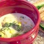 sopa cremosa de brocoli