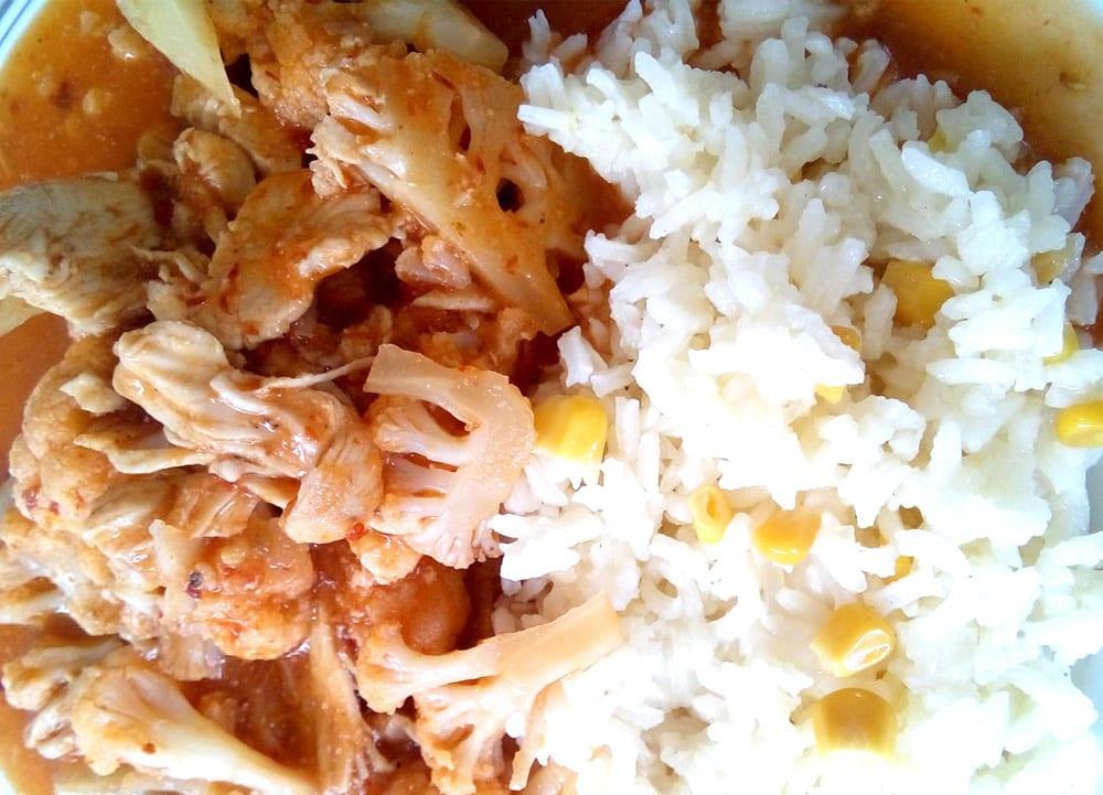 Receta de pollo con coliflor