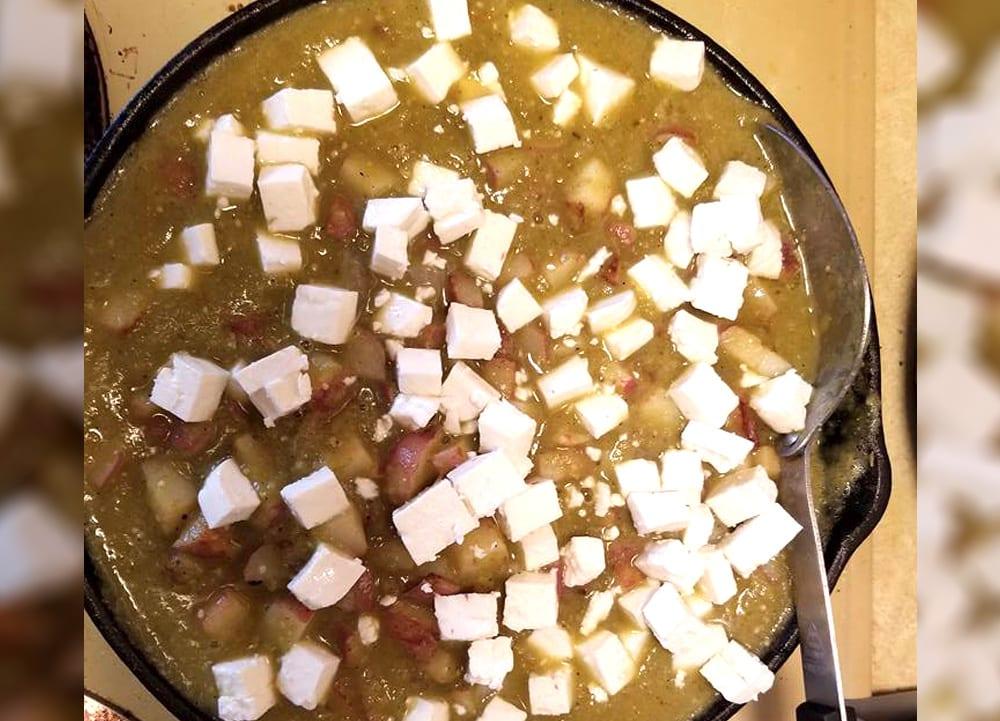 Receta de papas en salsa