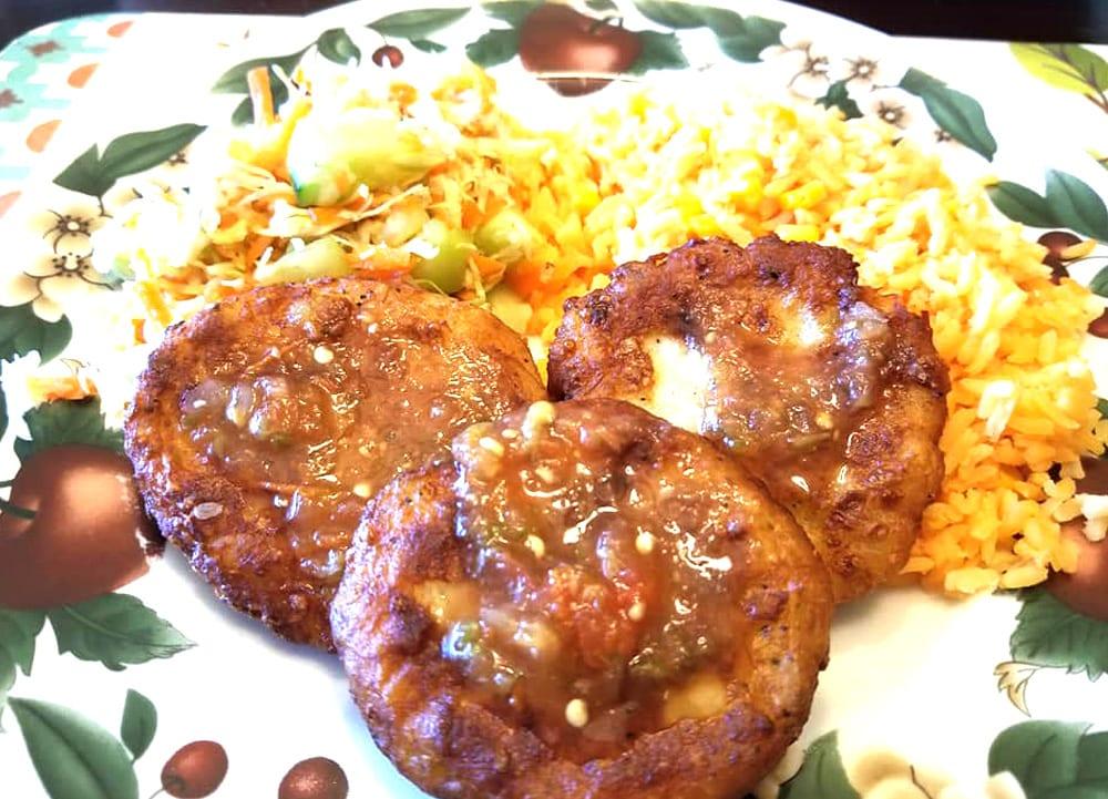 tortitas de papa con pollo