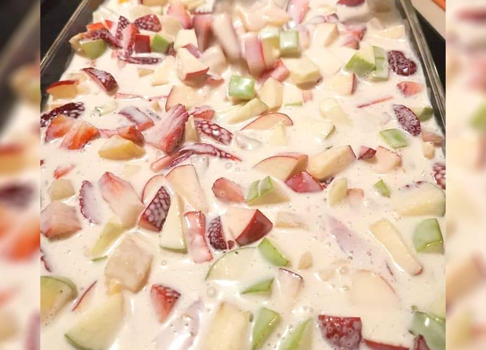Receta de postre de frutas
