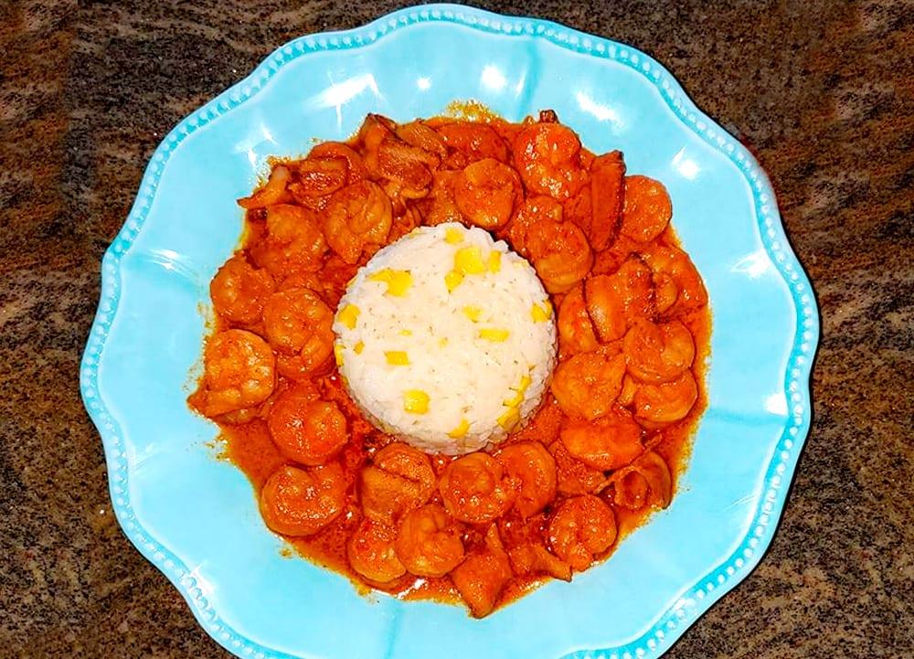 camarones en salsa de chipotle
