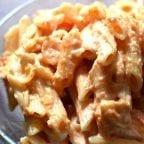 pasta en salsa de tomate y crema