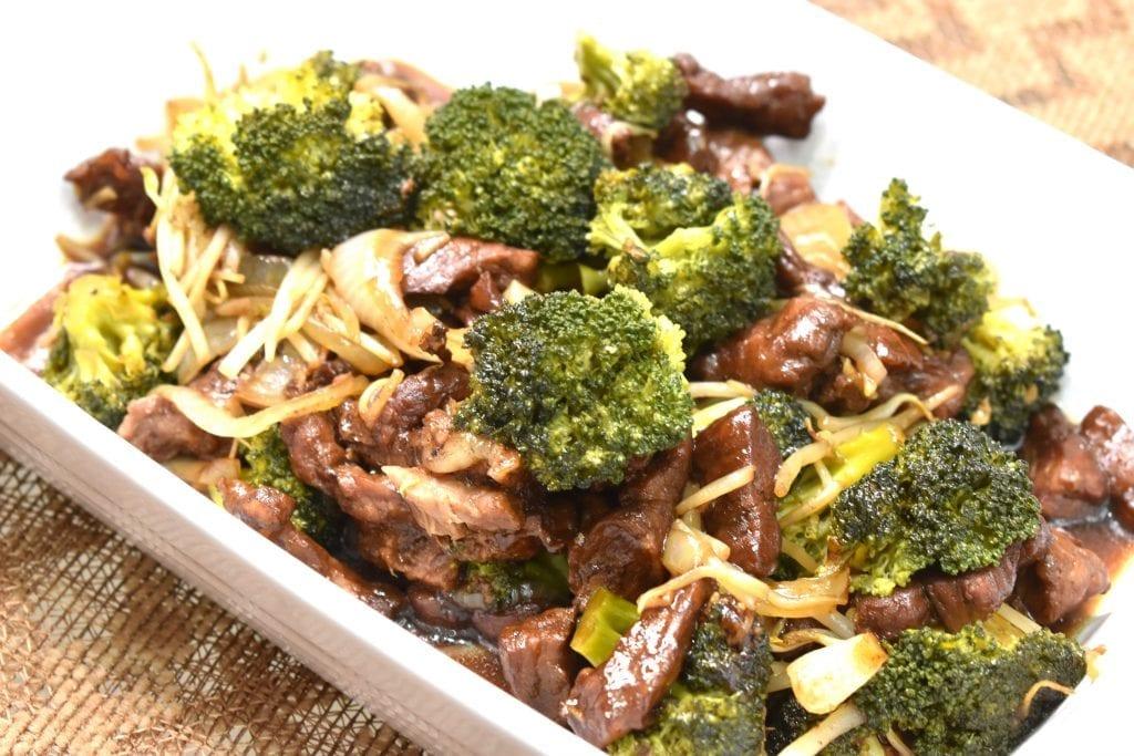 carne con brocoli